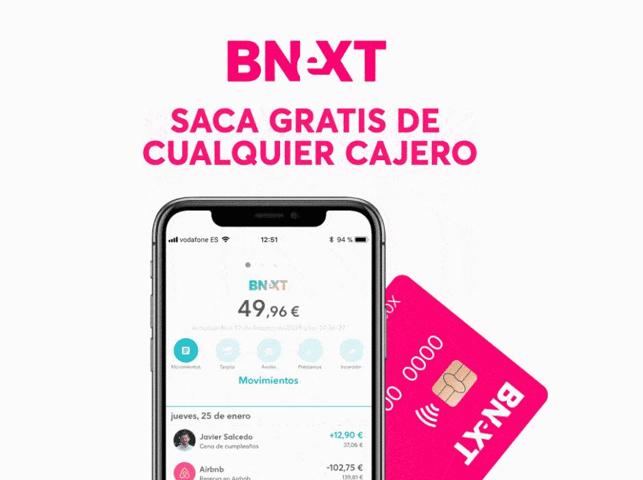 bnext cuenta online sin comisiones