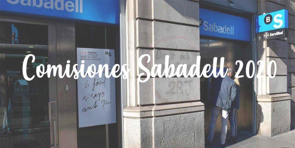 comisiones nuevas banco sabadell 2020