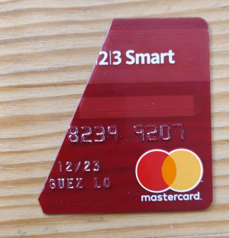 Tarjeta de la Cuenta Smart del Banco Santander