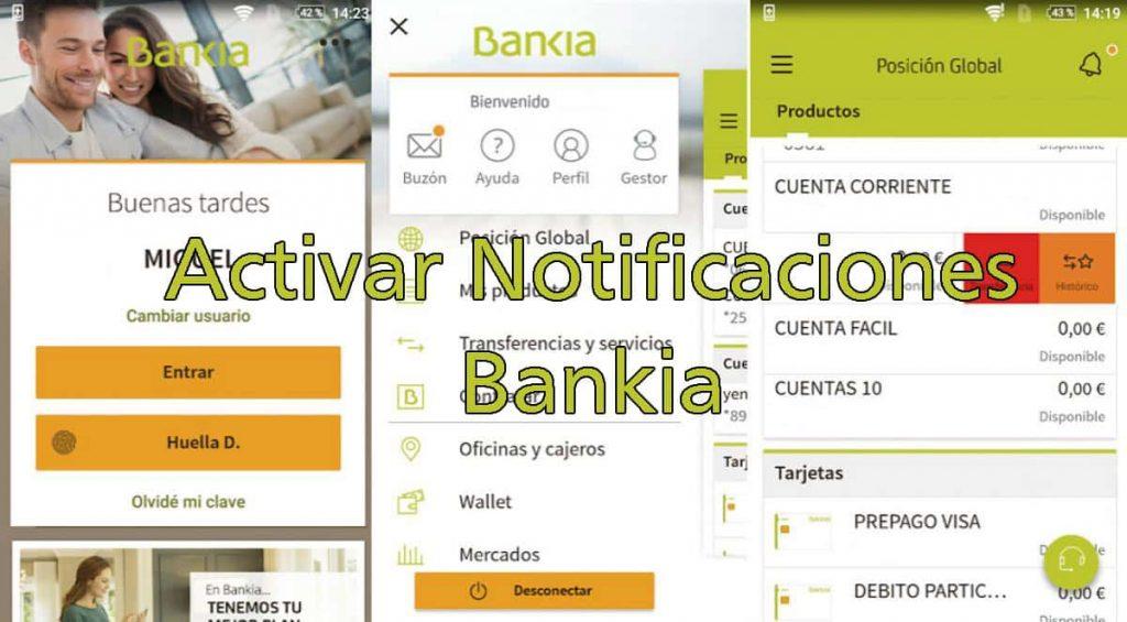 activar notificaciones push en bankia