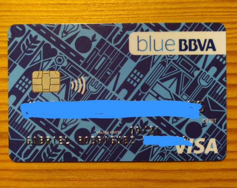Tarjeta de débito gratuita del BBVA