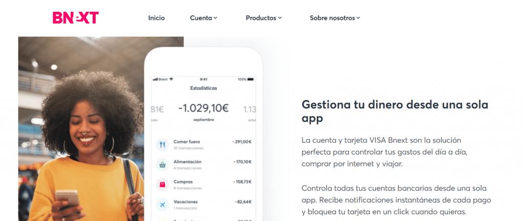 Puedes gestionar todo tu dinero desde un sólo lugar con la app de BNEXT