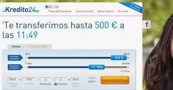 Los microcréditos Kreditech-kredito24 se solicitan por internet.