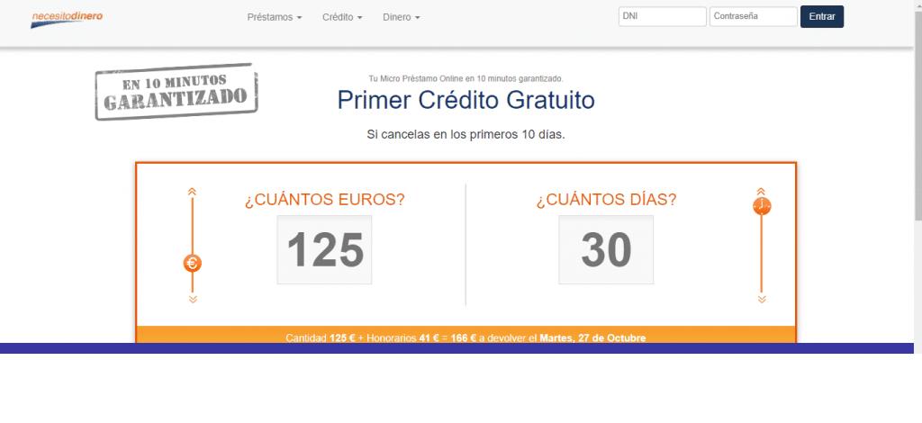 Puedes solicitar desde 100 hasta 400 euros fácil y rápido en Necesito - Dinero.