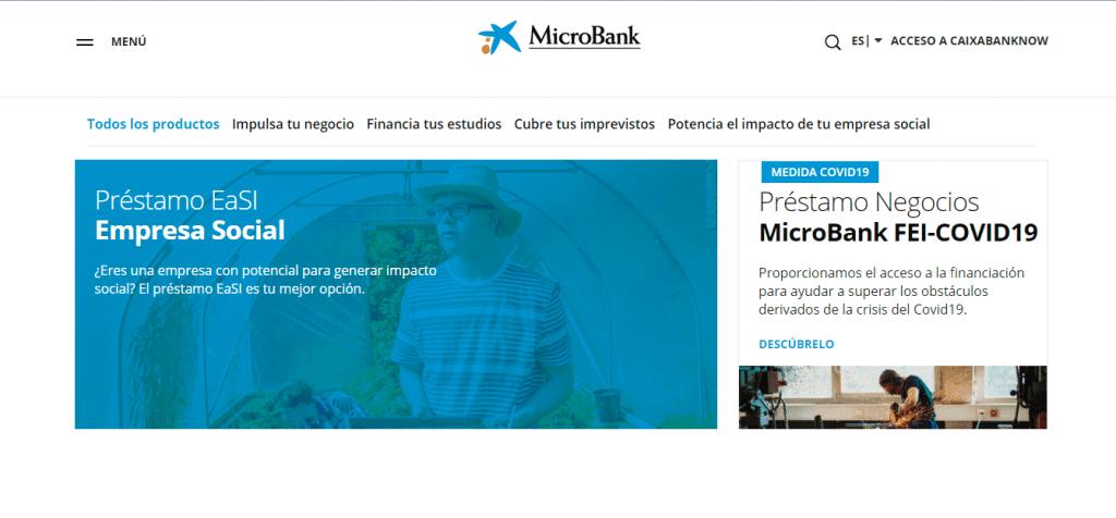 Microbank ofrece varias líneas de microcréditos.