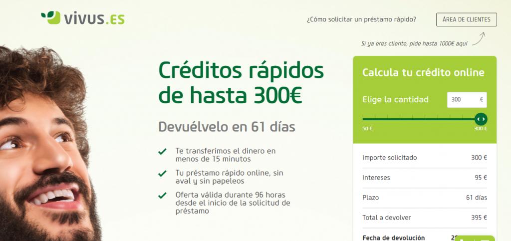 Vivus presta desde 50 hasta 1.000 euros.