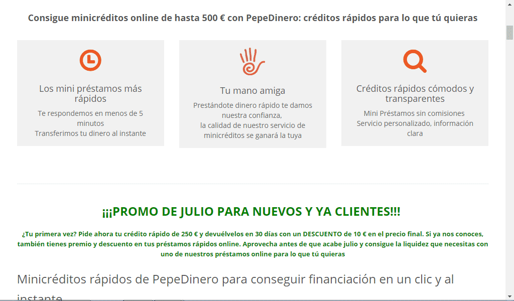 PepeDinero aplica intereses superiores al 20% TAE