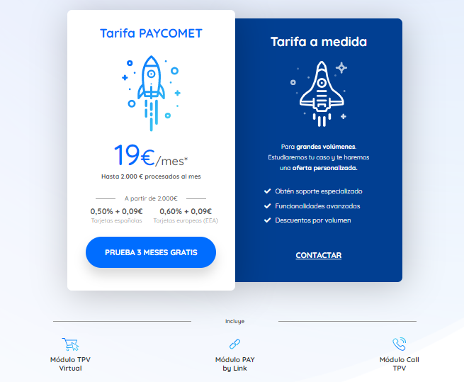 tarifas paycomet