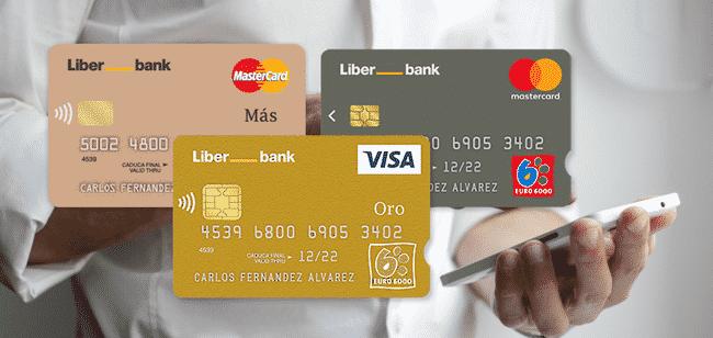 Liberbank tiene varias tarjetas.