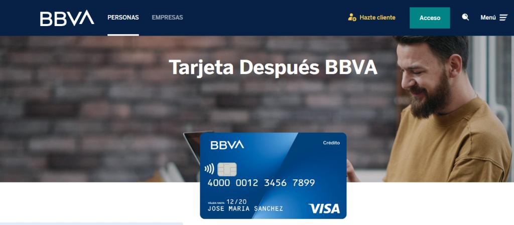 El BBVA ofrece varios tipos de tarjetas de crédito y revolving.
