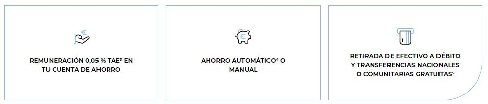 Características de la Cuenta Próxima de Targo Bank