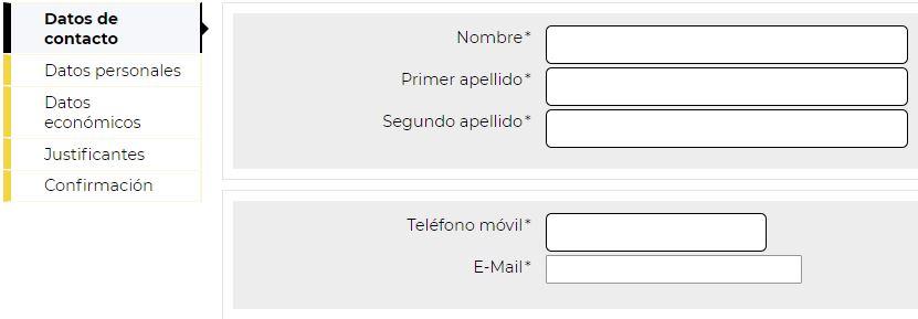 Formulario de contratación de la Cuenta Próxima de TargoBank