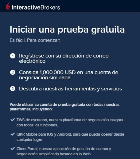 Cuenta demo Interactive Brokers