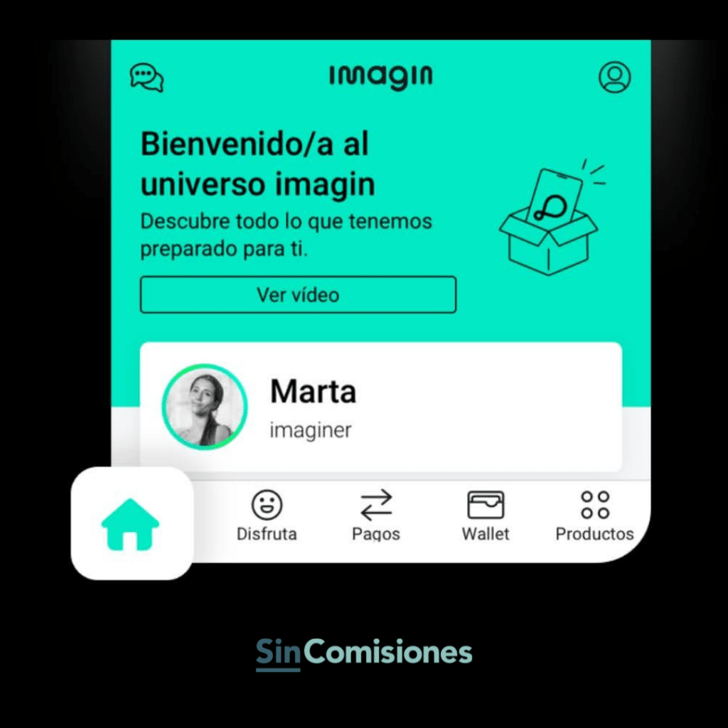 Imagin te da la bienvenida a la app