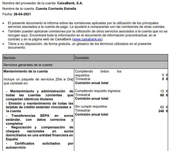 Nuevas comisiones de CaixaBank en 2021 para todos los clientes que no cumplan condiciones