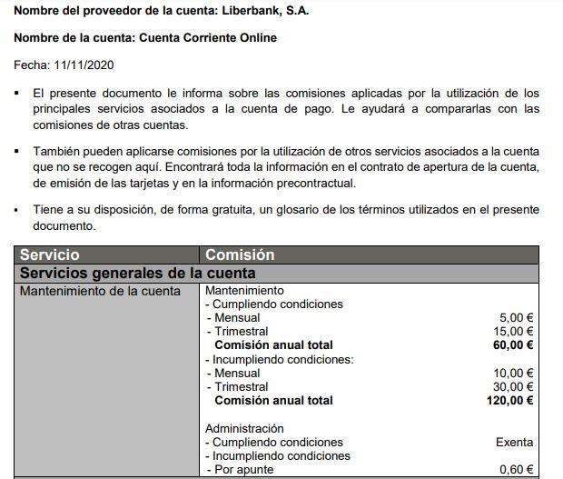 Evita las últimas Comisiones de Liberbank en 2021: No pagues de más