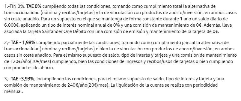 Las comisiones del Santander oscilan entre los 120€ y los 240€ al año