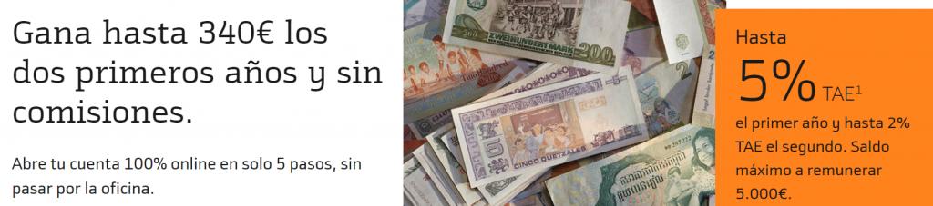 Consigue hasta 340€ al abrir tu cuenta remunerada de Bankinter