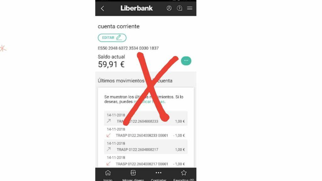 Cancelar una cuenta de Liberbank