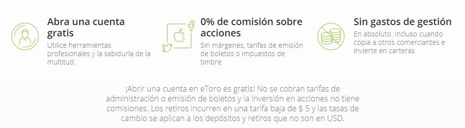 Comisiones de eToro