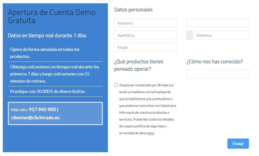 Cuenta demo ClickTrade