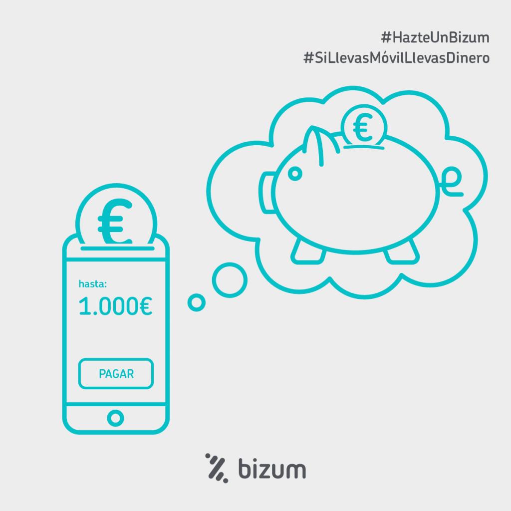 Bizum tiene un límite de transferencia de hasta 1.000€