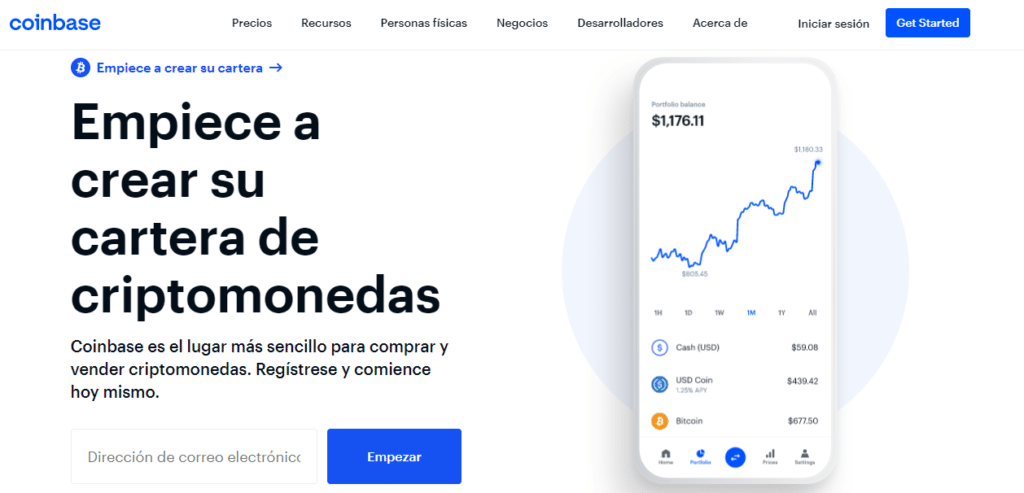 Abre tu cuenta de Coibase y empieza a invertir en Bitcoin