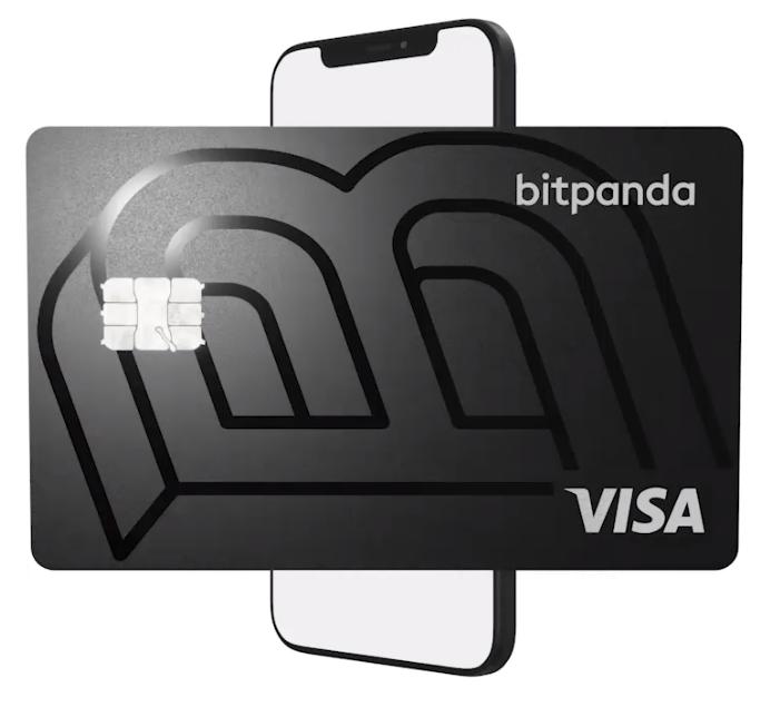 Tarjeta crypto de Bitpanda, uno de los mejores exchanges de criptomonedas