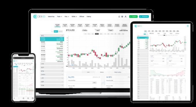 Plataformas de Cex.io, uno de los mejores exchanges crypto