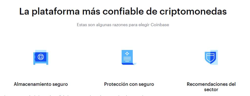 Coinbase es una plataforma segura para operar con criptomonedas