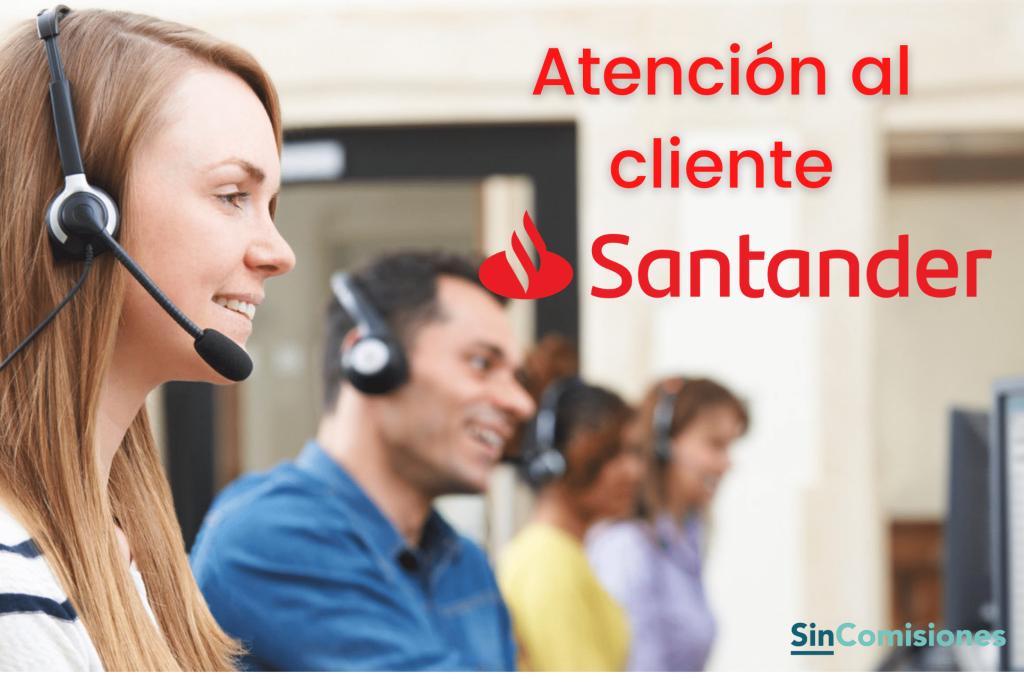 Atención al cliente Santander
