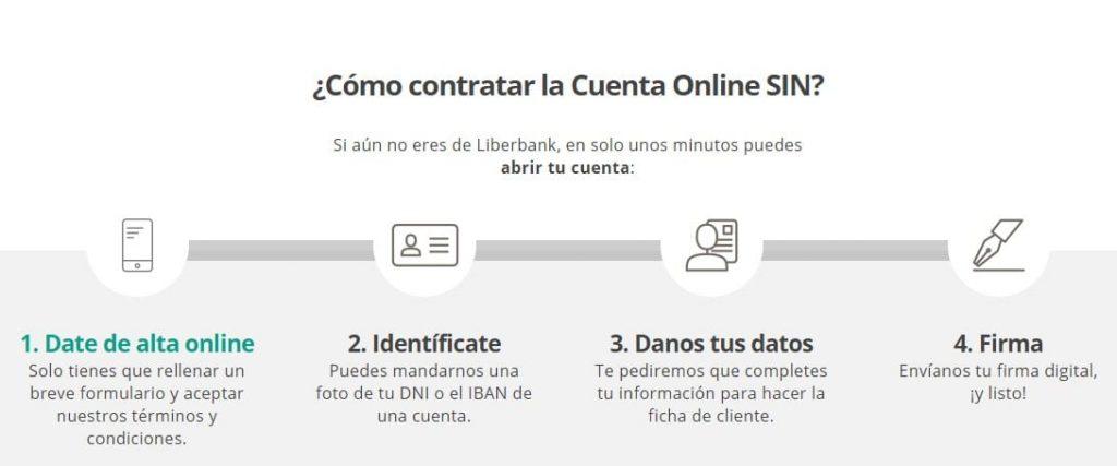 Pasos para contratar la Cuenta Online Sin de Liberbank