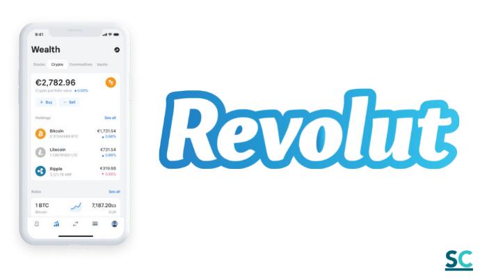 Con la App móvil de Revolut puedes comprar criptomonedas.