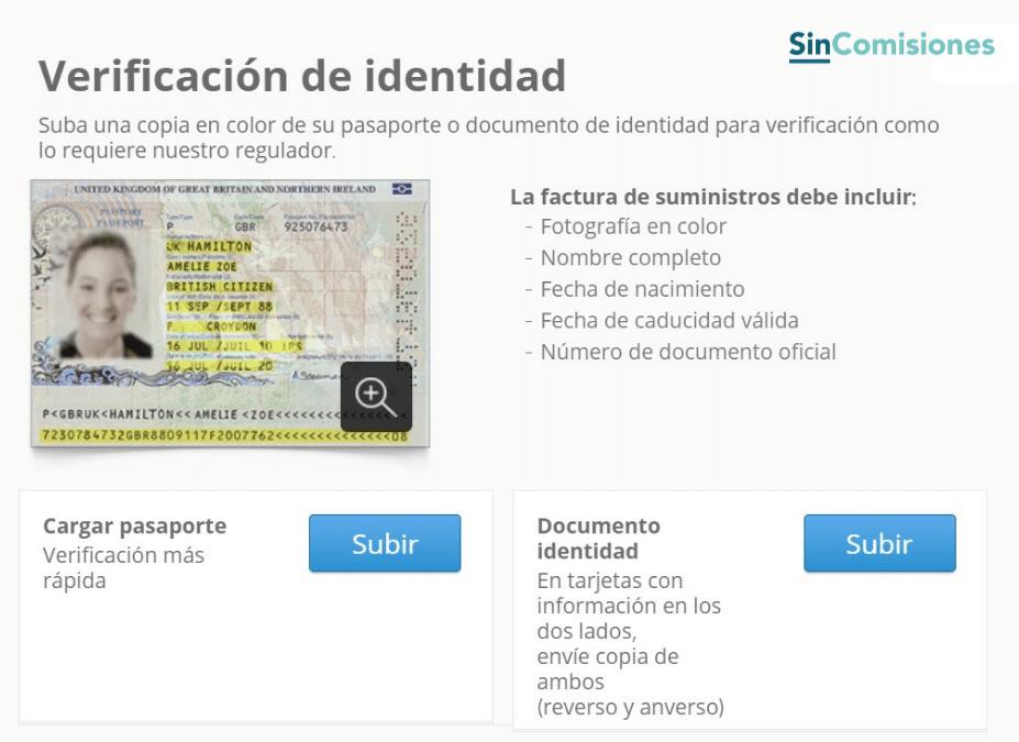 Verificación de identidad en eToro